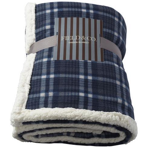 Joan sherpa plaid blanket