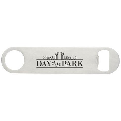 Paddle bottle opener