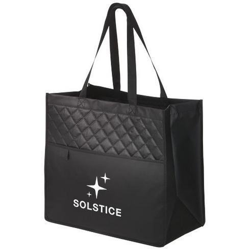 Quilto laminated non-woven shopping tote bag